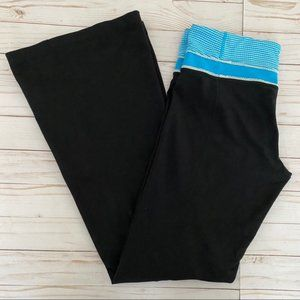 Lululemon Groove Pant Flare Blue Gingham Lace 6